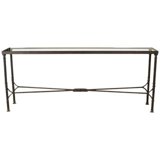 Bronze & Glass Console Table