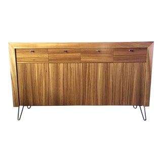 Mahogany Mid-Century Modern Style Sideboard Credenza With Hairpin Legs