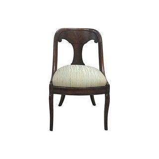Antique Biedermeier Flame Mahogany Side Chair