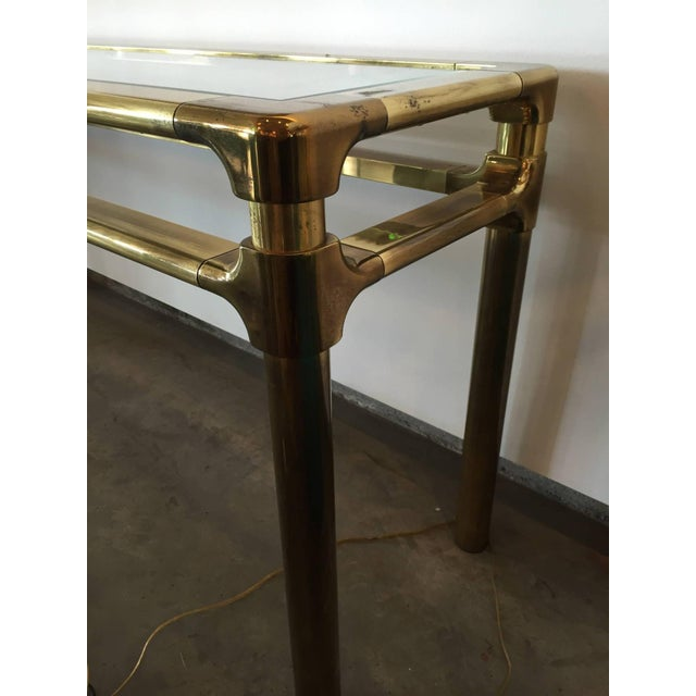 Mastercraft Brass and Glass Console - Image 2 of 6