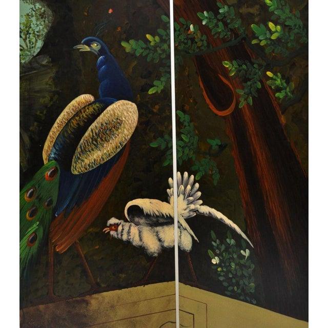 Image of Ornate Landscape Four Panel Screen