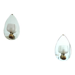 Pair of Mirrored Sconces by Fontana Arte, circa 1935