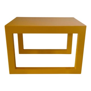 Modern Yellow Lacquer Side Table