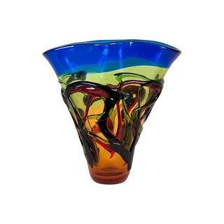 Handblown Multicolor Glass Vase