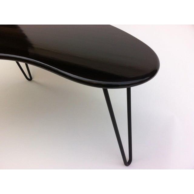 Mid Century Coffee Table Black: Black Mid-Century Kidney Bean Shaped Coffee Table