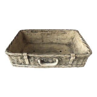 Vintage Cement Basket Weave Planter