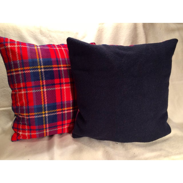Pillows Made From Vintage Wool Blanket - Pair - Image 2 of 5