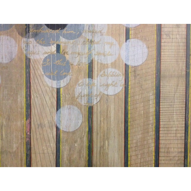 Image of Circles and Stripes Mixed Media Original Art