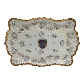 Hand Painted Embossed Ornate Dresser Tray