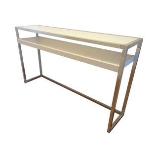 White Ligne Roset Contours Console Table