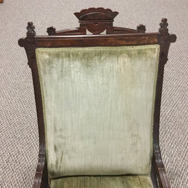 Antique East Lake Rocker - Image 6 of 6