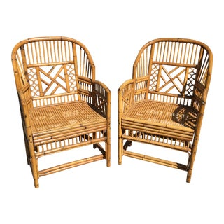 Mid-Century Brighton Style Bamboo Chairs - A Pair
