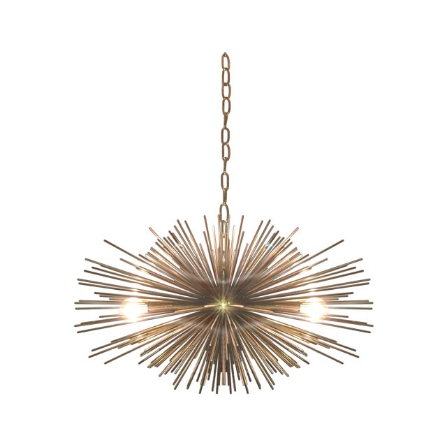 Mini Urchin Brass Chandelier - Image 1 of 4