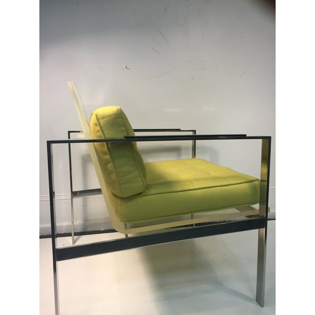 Rare Pair of Modernist Lucite And Nickeled Bronze Chairs by Laverne - Image 8 of 10
