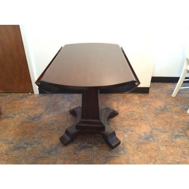 Solid-Wood Dining Table And Side Table - Image 5 of 5