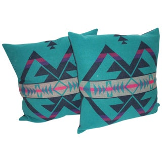 Pair of Amazing Cayuse Pendleton Indian Blanket Pillows