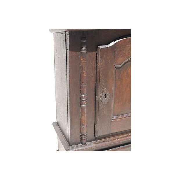 Image of 1690 Antique English Jacobean Wall Cupboard