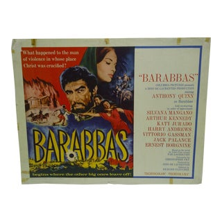 "1962 Vintage ""Barabbas"" Movie Poster"