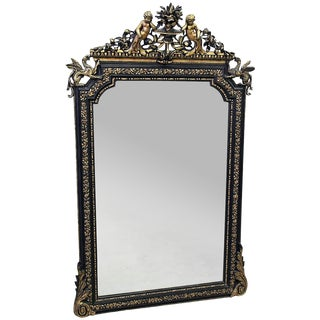 French Gilt Putti and Griffen Mirror