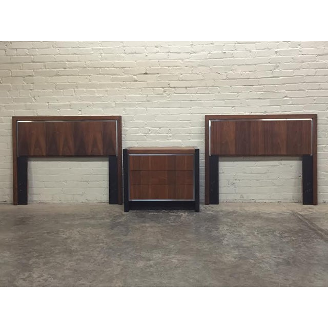 Dillingham Twin Headboards by Milo Baughman - Pair - Image 7 of 8