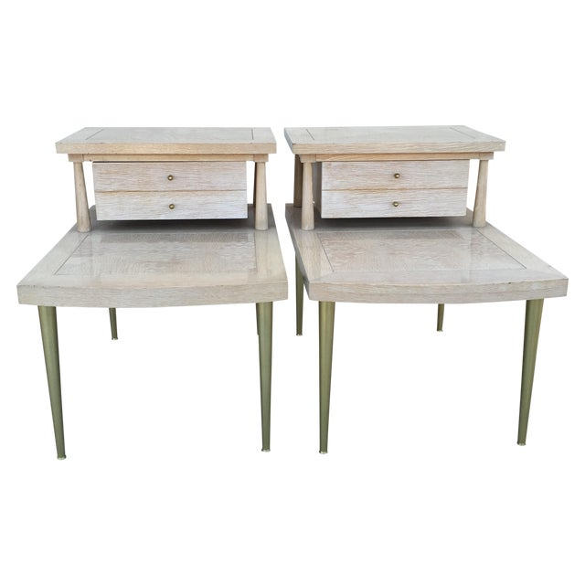 Mid-Century Modern Lane Maple Nightstands - A Pair - Image 1 of 11