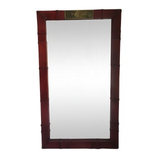 Sarreid Leather & Brass Deer Mirror