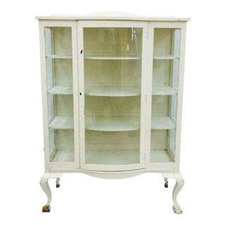 Antique Painted Wooden Bookcase Cabinet