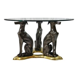 Maitland- Smith Bronze & Brass Whippets Cocktail Table