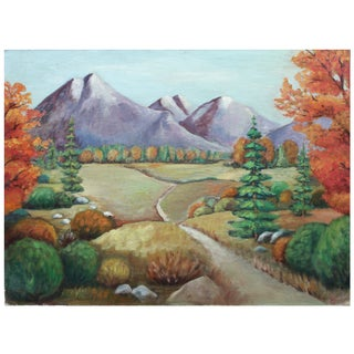 Autumn Pathway Landscape Painting