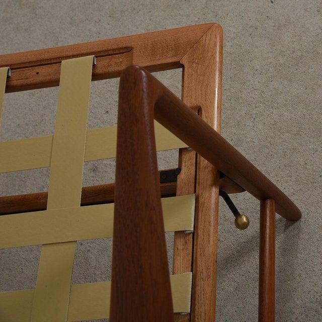 Kofod Larsen Danish Modern Teak Adjustable Lounge Chair with Ottoman - Image 7 of 10