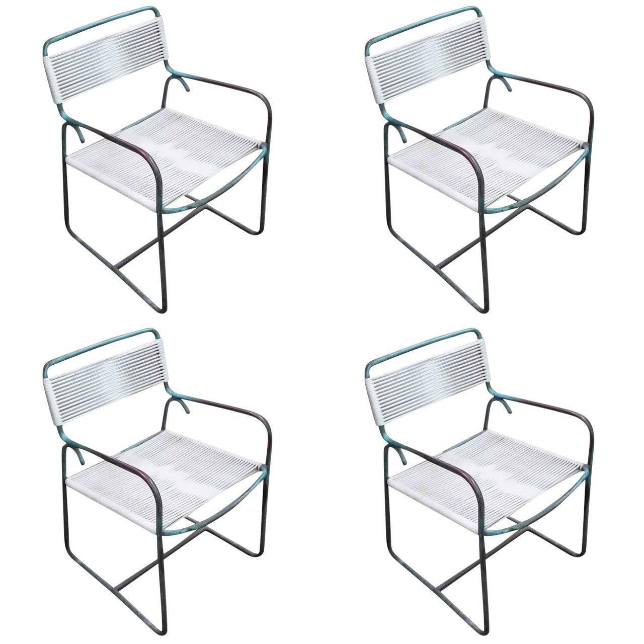walter lamb for brown jordan patio armchairs set of 4
