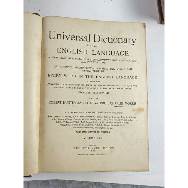 Distressed Leather Dictionaries 1897 - S/4 - Image 6 of 6
