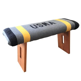 Custom U.S.M.A. Wool Blanket Stool