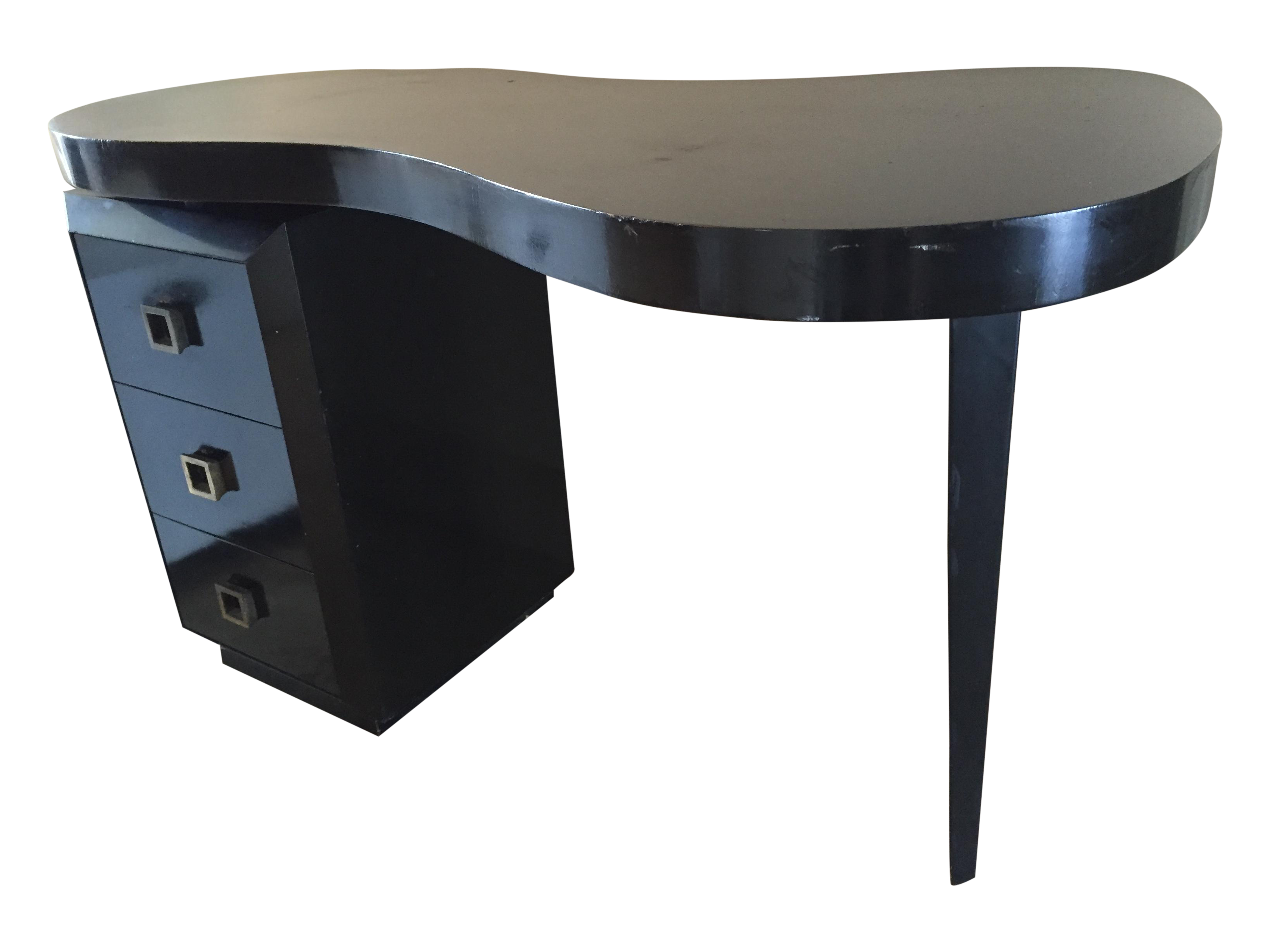 Mid Century Modern Black Desk