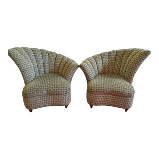 Mid-Century Clam Shell Chairs - A Pair