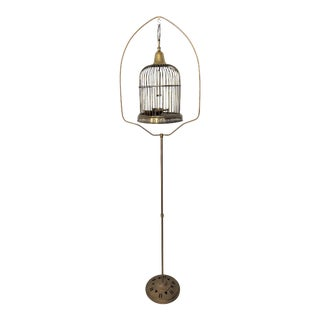 Jack Housman Vintage Brass Bird Cage and Stand