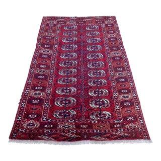 "Vintage Persian Turkoman Rug - 4' x 6'4"""