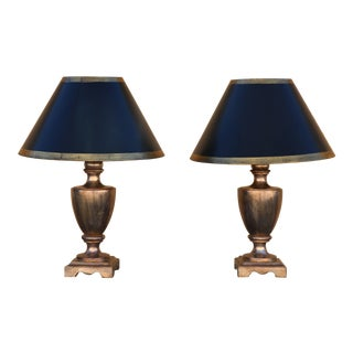 Silver Leaf Table Lamps - A Pair