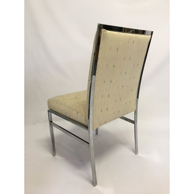 Chrome Upholstered Dining Chairs After Milo Baughman - Set of 6 - Image 4 of 8