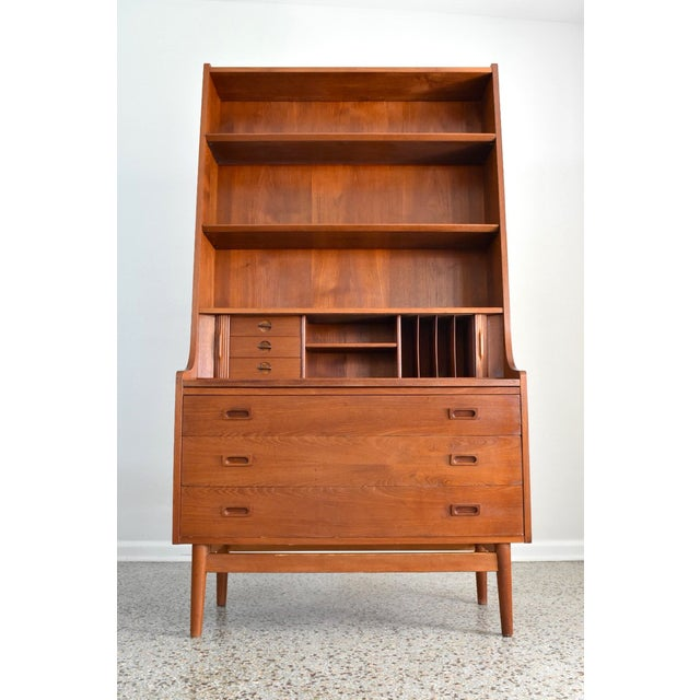 Image of Vintage Danish Modern Teak Secretary Desk