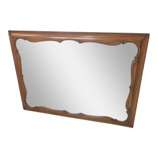 Carved Fruitwood Mirror