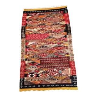 """Moroccan Zanafi Tribe Berber Wool Kilim Area Rug 45"""" x 25"""""""