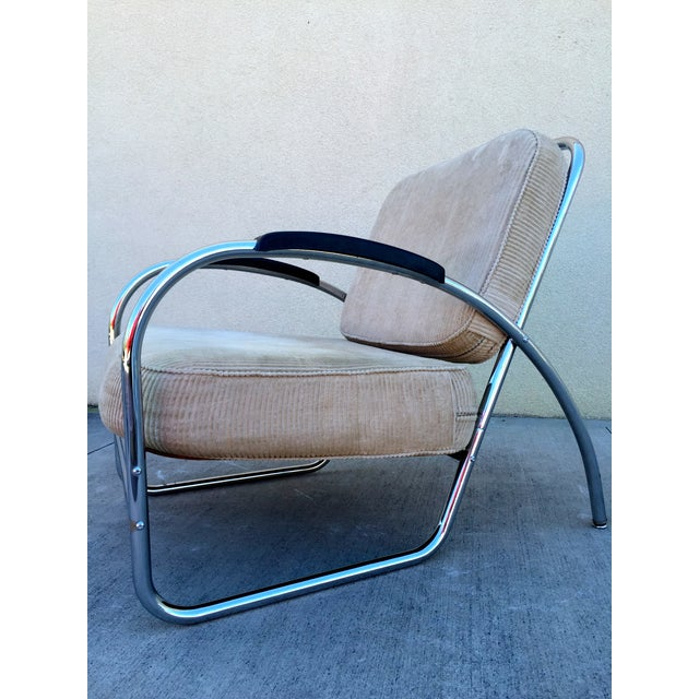 Kem Weber Style Deco Chrome Chair by Royal Metal - Image 3 of 11