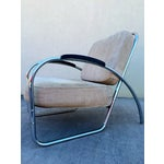 Image of Kem Weber Style Deco Chrome Chair by Royal Metal