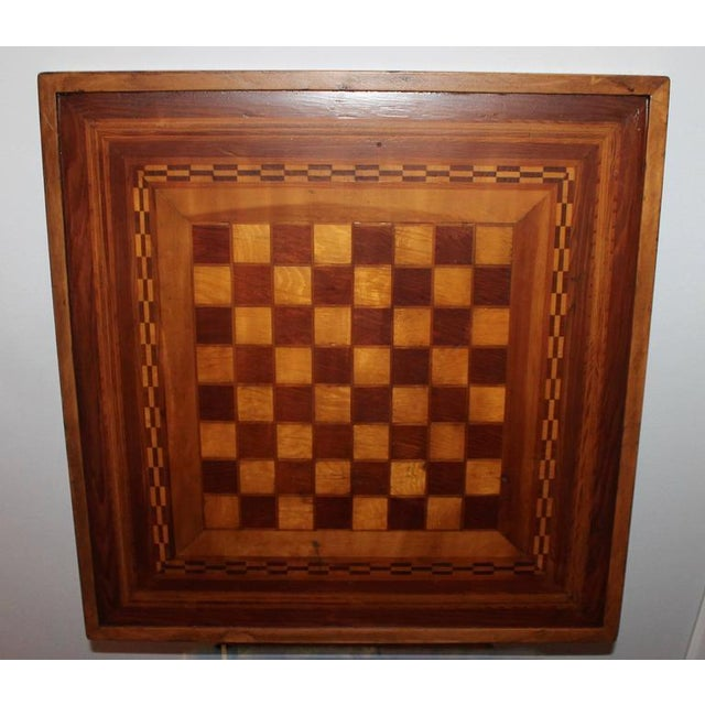Early 20th Century Reversible Inlaid Wood Gameboard - Image 4 of 5