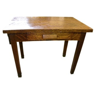Arts & Crafts Mission Oak Tiger Stripe Desk Table