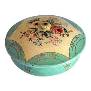 Vintage Japanese Floral Paper Mache Box