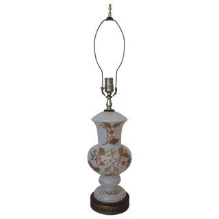 Mid-Century Bavarian Bristol Glass Lamp