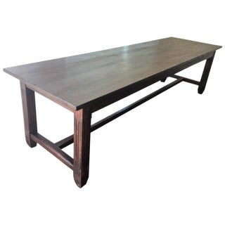 20th Century Large Spanish Farm Table Dining Room