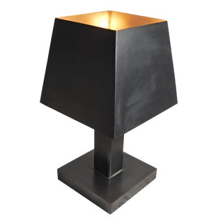 Deco Inspired Steel/Bronze Concorde Table Lamp #2
